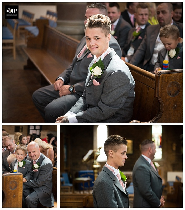 Photo of Groom waiting at the church
